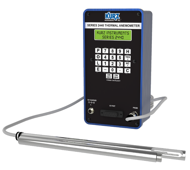 Kurz 2444 Heavy Industrial Portable Flow Meter