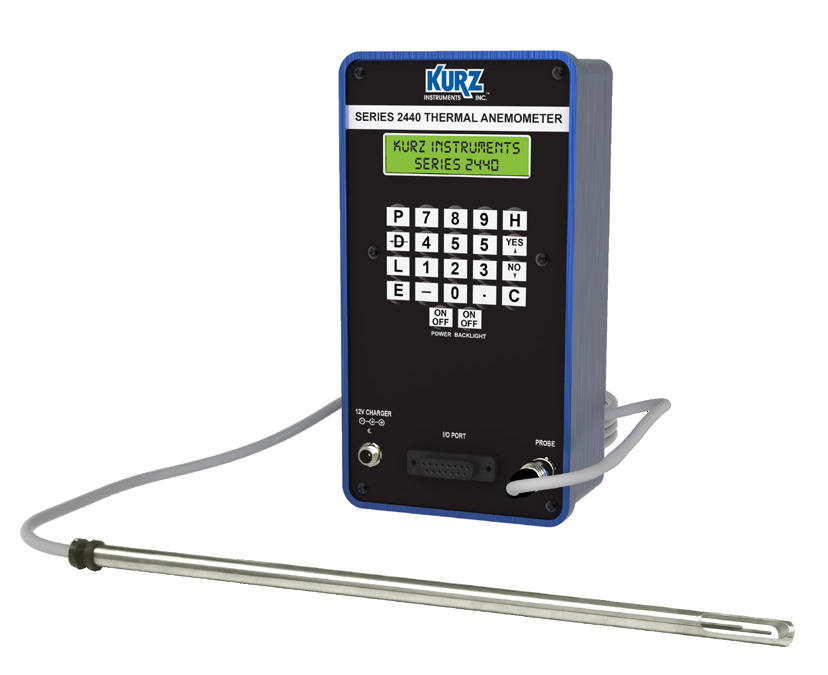 Kurz 2445 High Temperature Probe Portable Flow Meter